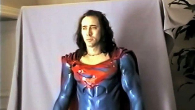 nicolas cage, superman lives