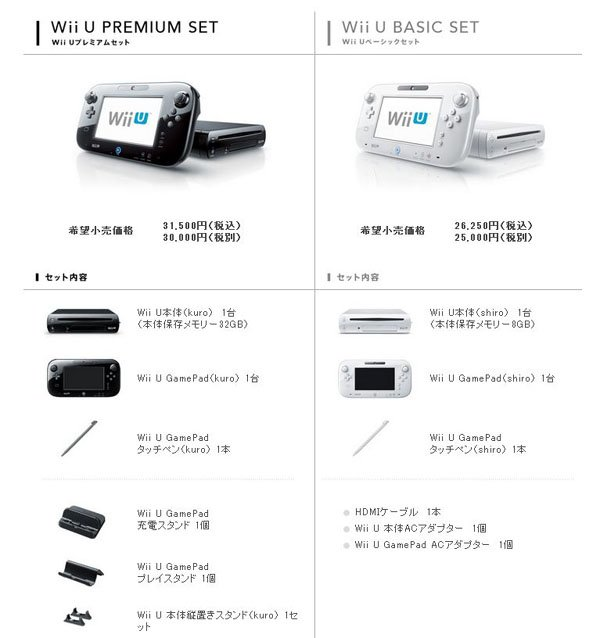 Wii U Premium And Basic SKUs Launch In Japan On December 8th