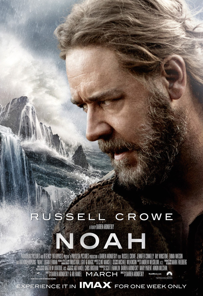 Noah Soundtrack Detailed, 4 New TV Spots And IMAX Poster Released