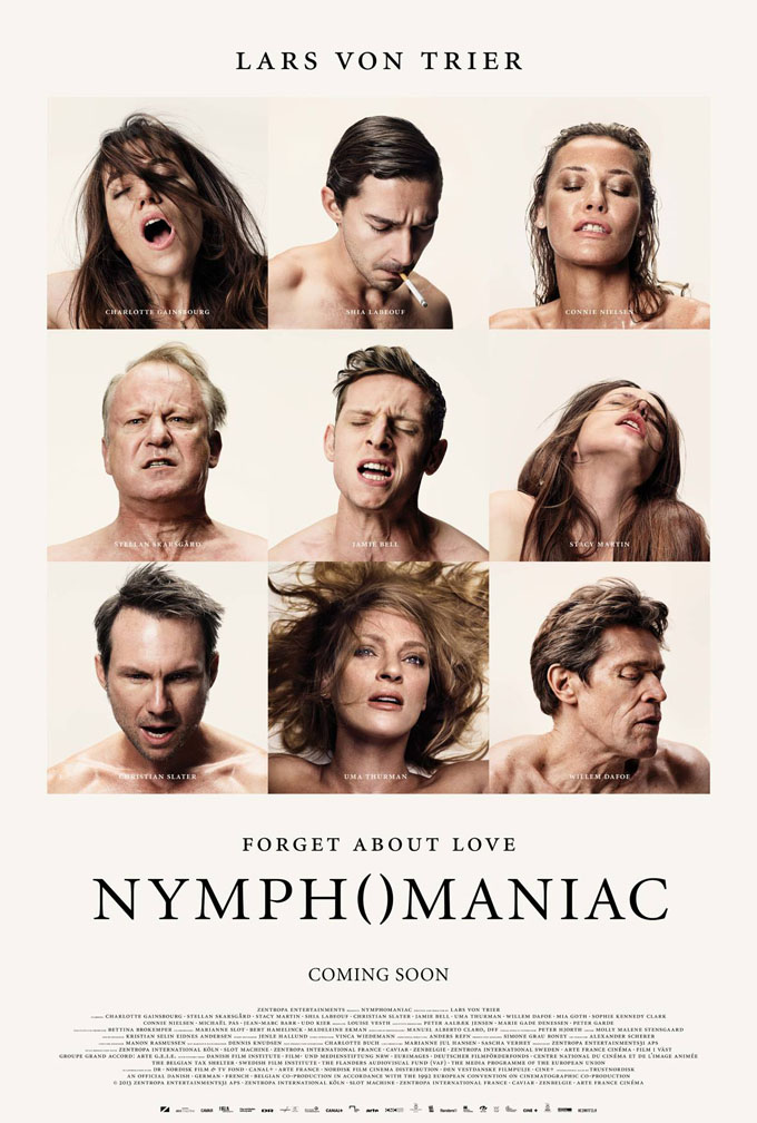 New Posters For Nymphomaniac Compile O-Faces And Go In For A Close-Up