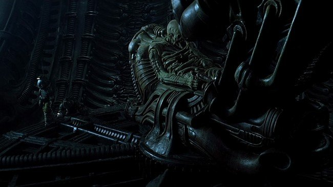 o space jockey and xenomorphs will be in ridley scott s prometheus 650x365 Big Things Have Small Beginnings   The Connection Between Prometheus And Alien