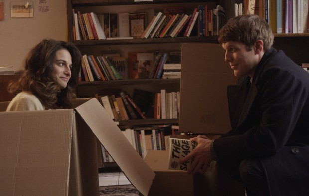 Jenny Slate and Jake Lacey in Obvious Child