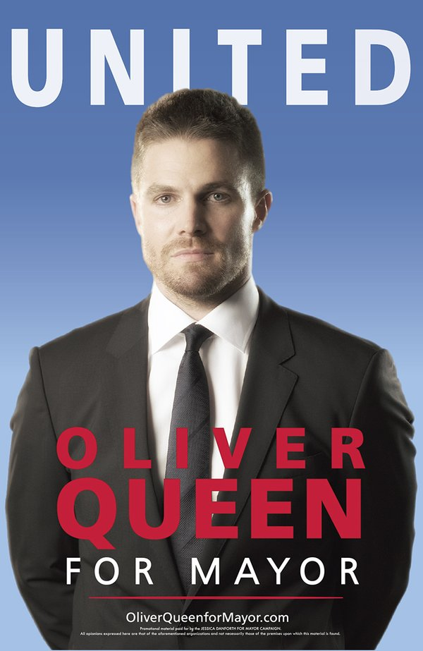 Support Oliver Queen For Mayor In New Promo Posters For Arrow