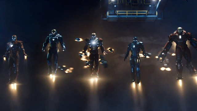 Iron Man 3 a lot of suits