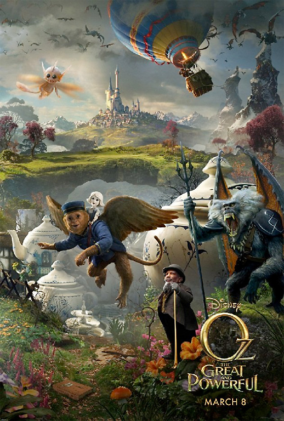 New Characters Unveiled In Latest Oz: The Great And Powerful Poster