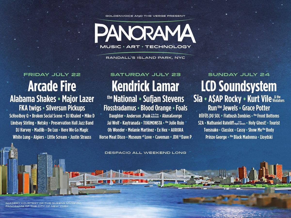 "Panorama, Goldenvoice's ""East Coast Coachella,"" Announces 2016 Lineup"