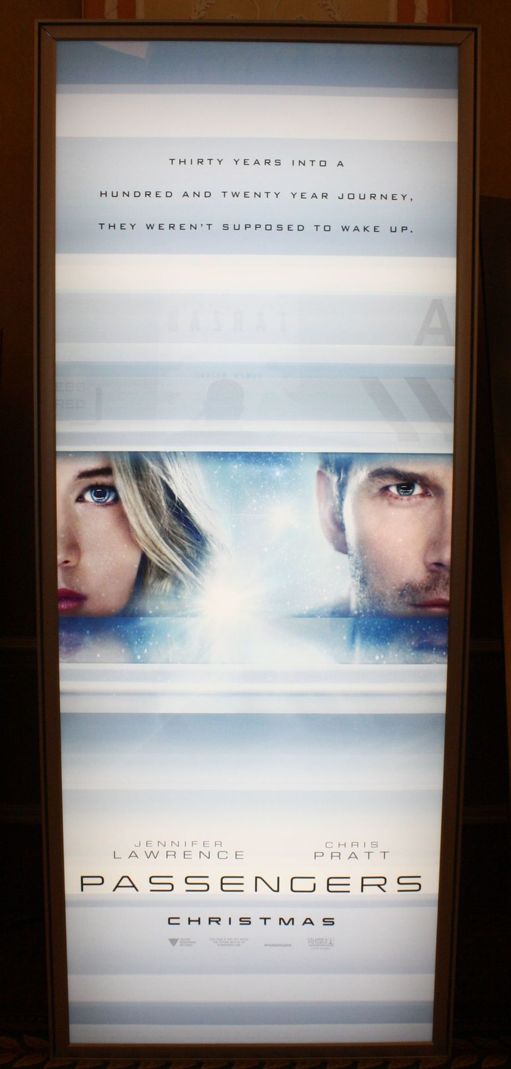 First Passengers Poster Spotted At CinemaCon