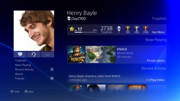 Here Is What The PlayStation 4 Interface Currently Looks Like