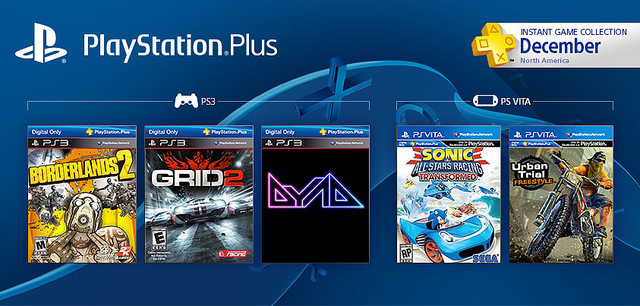 PlayStation Plus December Preview: GRID 2, Borderlands 2 And More For Free