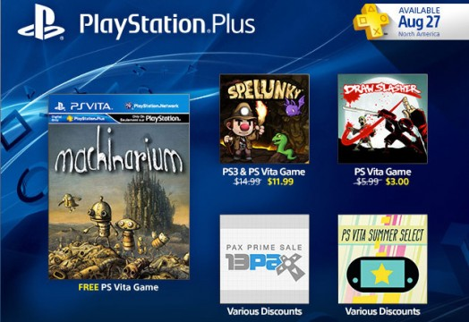 playstation plus machinarium spelunky