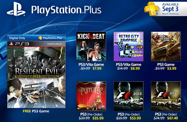 PlayStation Plus Update: Resident Evil Chronicles HD Free & Pre-Order Discounts