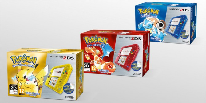 Special Edition Pokemon 2DS Bundles Announced For Europe