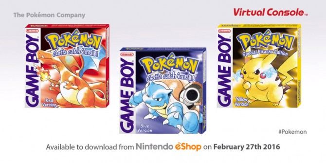 Pokémon Red, Blue And Yellow Releasing For The 3DS In 2016