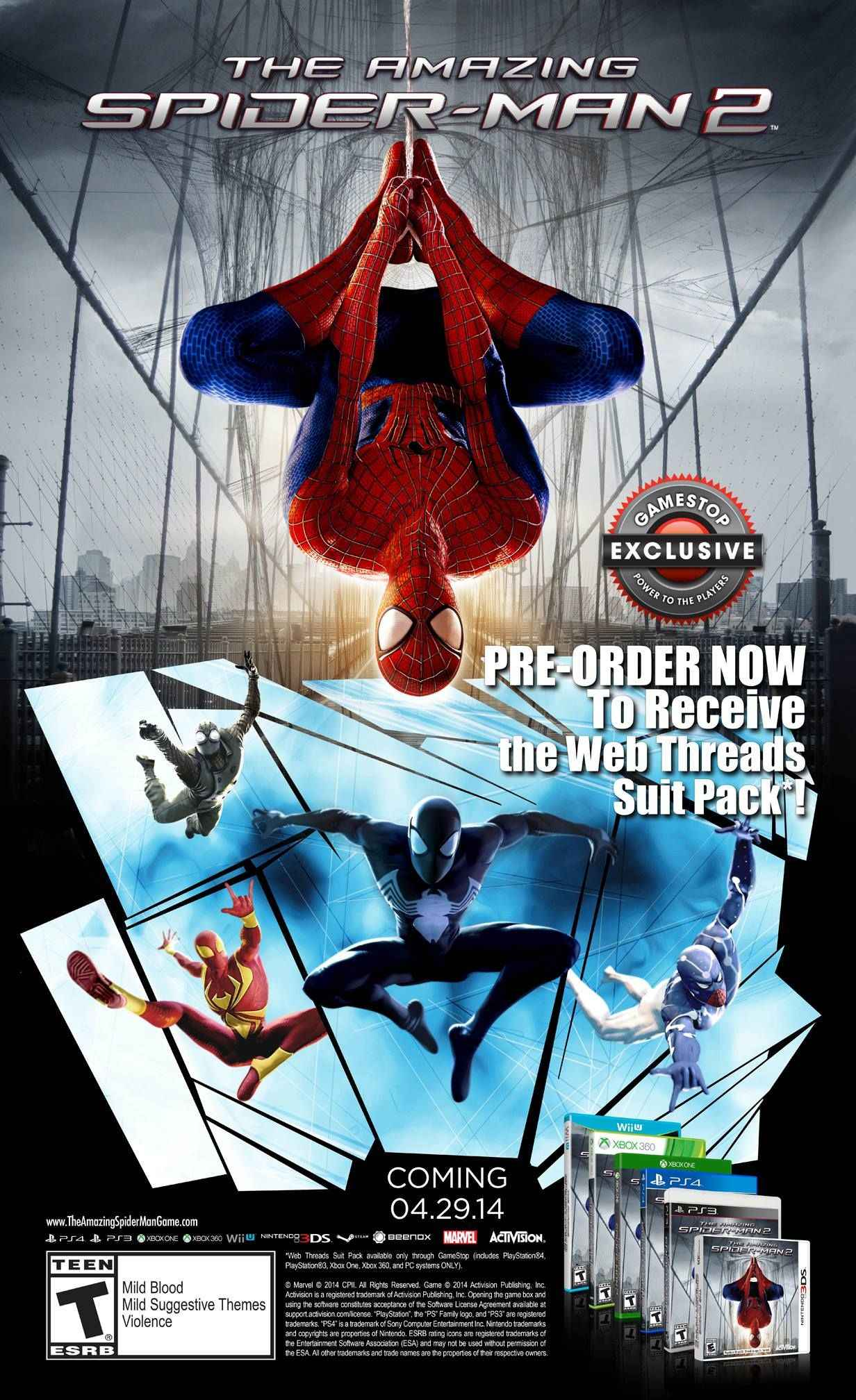 The Amazing Spider-Man 2 Pre-Order Bonuses And Release Date Revealed
