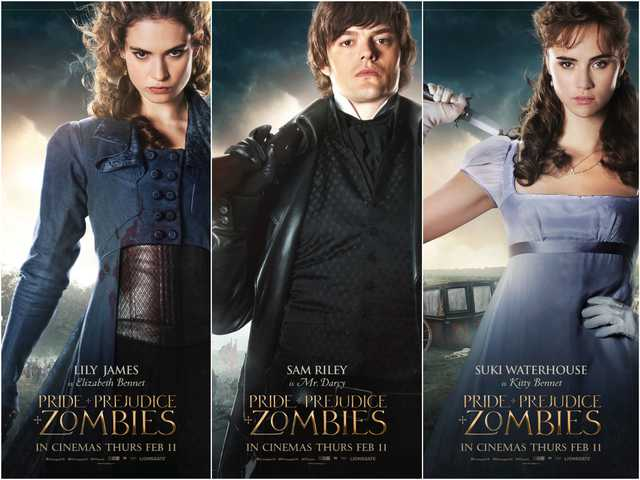 Pride And Prejudice And Zombies Debuts New Character Posters