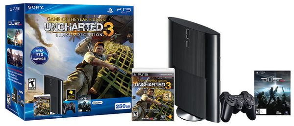ps3 super slim uncharted 3 bundle [Update] PlayStation 3 Super Slim Redesign Announced, Launches Sept 25th