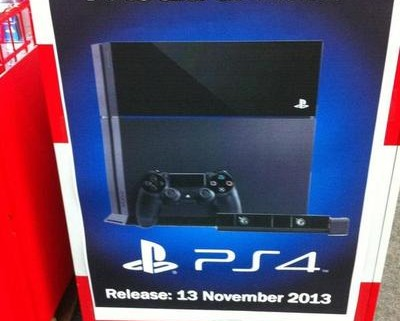 ps4 nov 13 release 400x321 European Retailers List PlayStation 4 For November 13th Release
