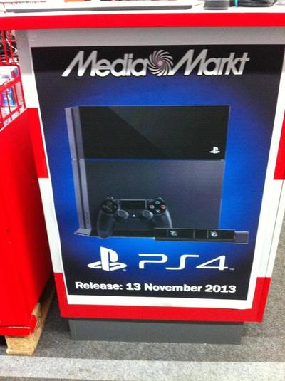 European Retailers List PlayStation 4 For November 13th Release