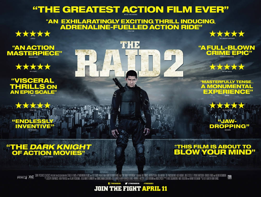 New UK Quad Poster For The Raid 2 Is Full Of Quotes