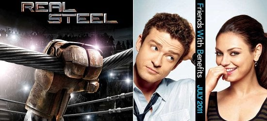 Real Steel And Friends With Benefits Posters