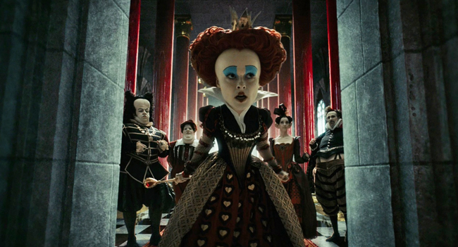 Helena Bonham Carter's Red Queen Will Go Through The Looking Glass