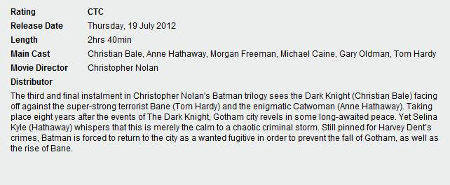 The Dark Knight Rises Will Be Close To Three Hours Long