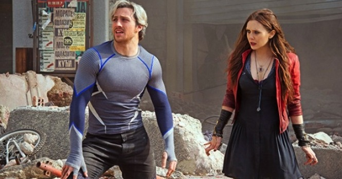 Quicksilver And Scarlet Witch Dominate Two Character Posters For Avengers: Age Of Ultron