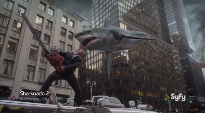 Let The Fireworks Begin In Ridiculous Full Trailer For Sharknado 2: The Second One