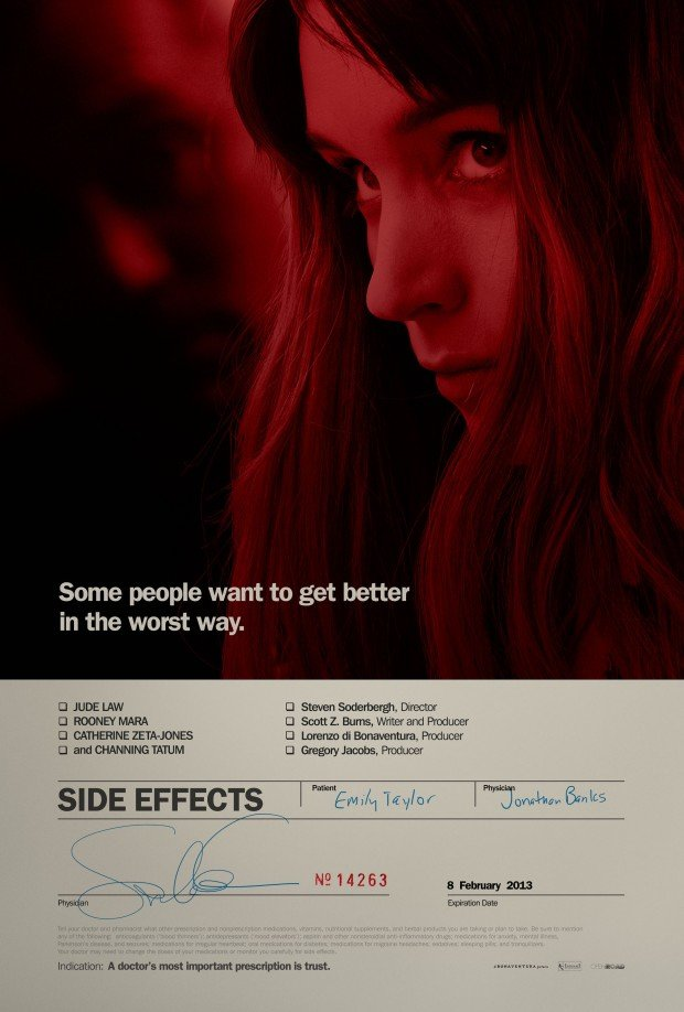 Check Out Rooney Mara's Prescription In First Poster For Side Effects