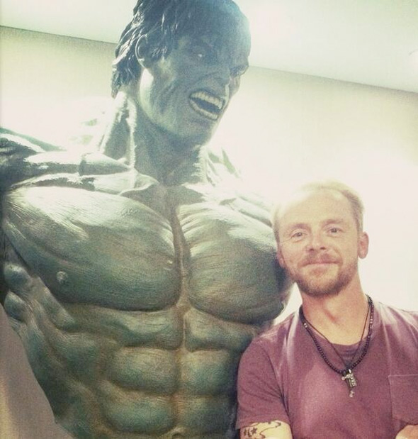 simonpegg marvelvisit2 full Is Simon Pegg Going To Play Ant Man For Edgar Wright?