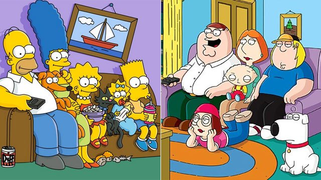 simpsons family guy640 Attack Of The Clones! 5 TV Shows That Inspired Blatant Rip Offs
