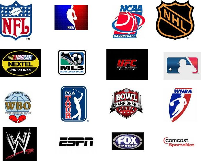 logos sports nba mlb nfl professional nhl leagues nascar ncaa boxing dvd sport parity tennis sell around per wegotthiscovered