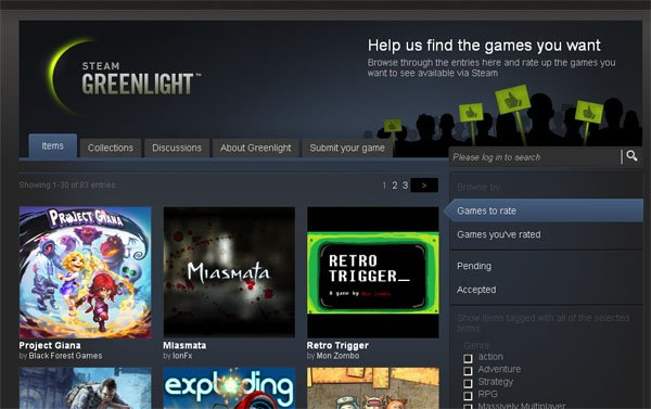 Steam Greenlight Games Now Awaiting Your Approval
