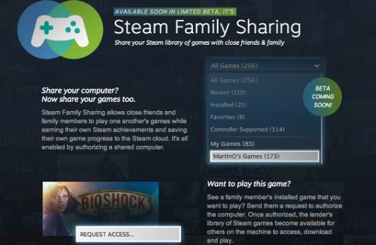 New Steam Family Sharing Feature Will Allow Players To Share Games