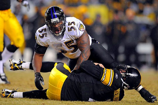 Terrell Suggs & DeMarcus Ware Share The Professional Butkus Award