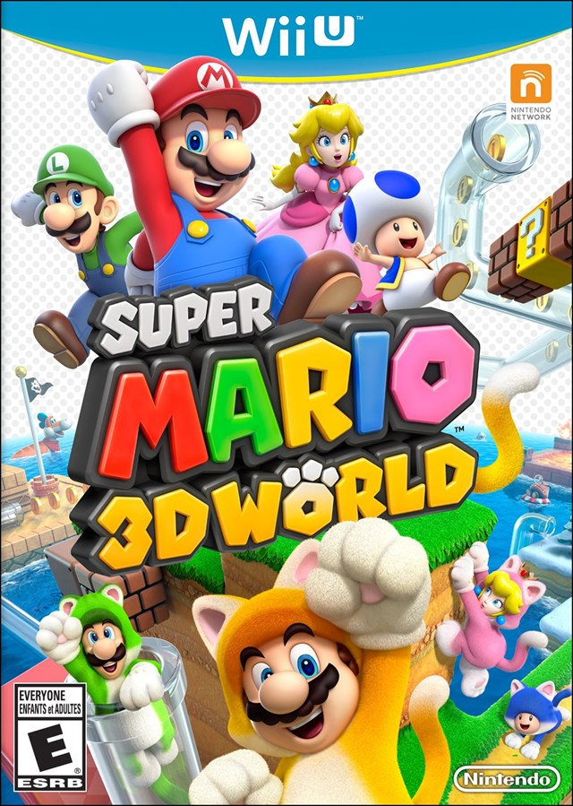 super mario 3d world box art Super Mario 3D Worlds Box Art Is Cat Tastic!