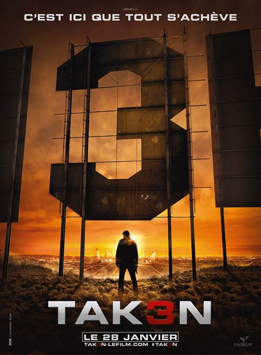 This Is Where It All Ends, Claims The French Teaser Poster For Taken 3