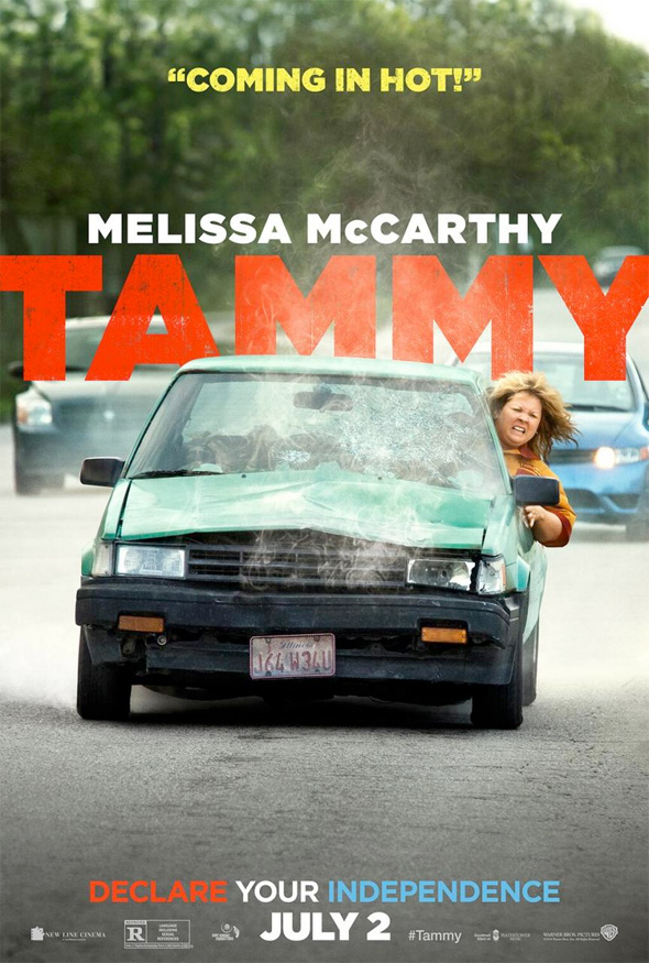 tammy poster car full Melissa McCarthy Is A Road Ready, Jetski Riding, Burger Joint Robbing Menace In New Tammy Posters