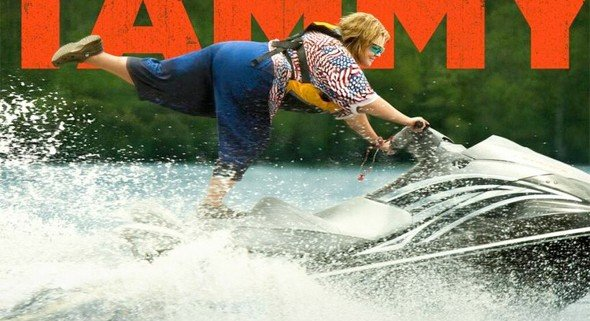 tammy poster jetski full 590x321 Melissa McCarthy Is A Road Ready, Jetski Riding, Burger Joint Robbing Menace In New Tammy Posters