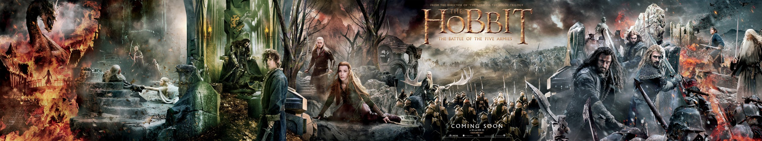 Show-Stopping Banner For The Hobbit: The Battle Of The Five Armies Teases Middle-Earth's Final Chapter