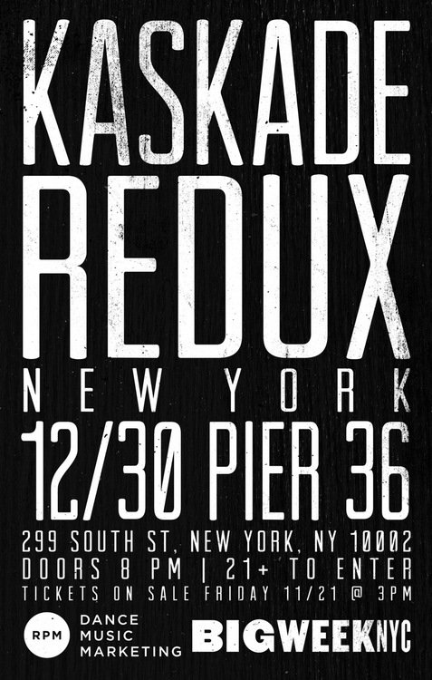 Kaskade Announces Redux Show For NYC