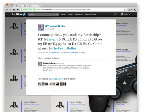 Sony VP Kevin Butler Tweets The PS3 Jailbreak Code