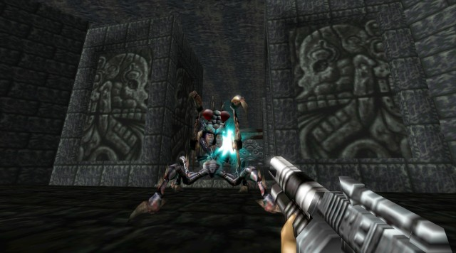 turok-1-remake-giant-fly-boss-mantis-catacombs-guardian-enemy-pc-gameplay-screenshot