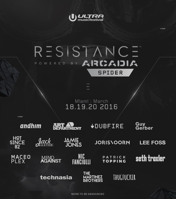 Ultra Resistance Reveals Phase One Lineup