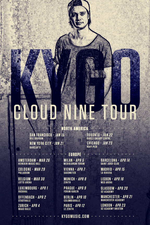 Kygo Announces Cloud Nine Worldwide Tour