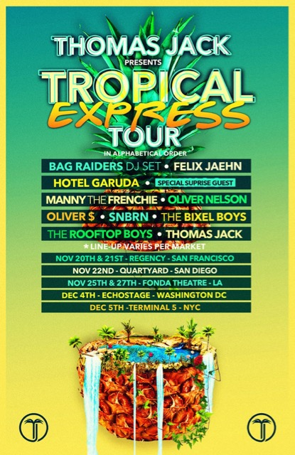 Thomas Jack Announces Tropical Express Tour Dates