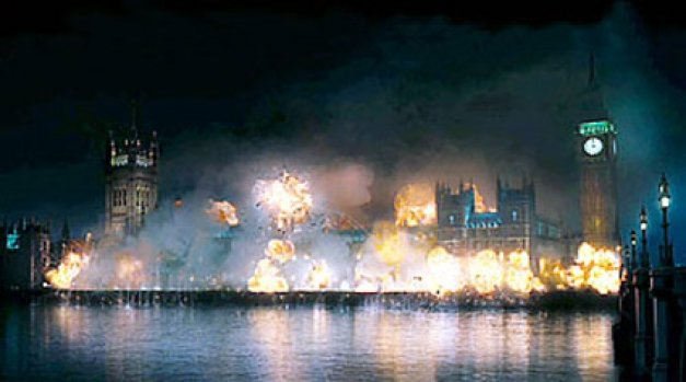 v for vendetta parliament 10 Movies In Which Famous Monuments Come Under Attack