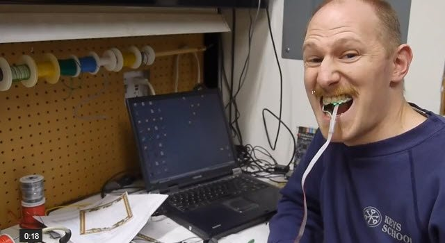 Valve Engineer Creates Controllers Operated By Tongues And Butts