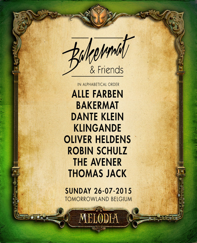 Tomorrowland Announces Bakermat & Friends Stage