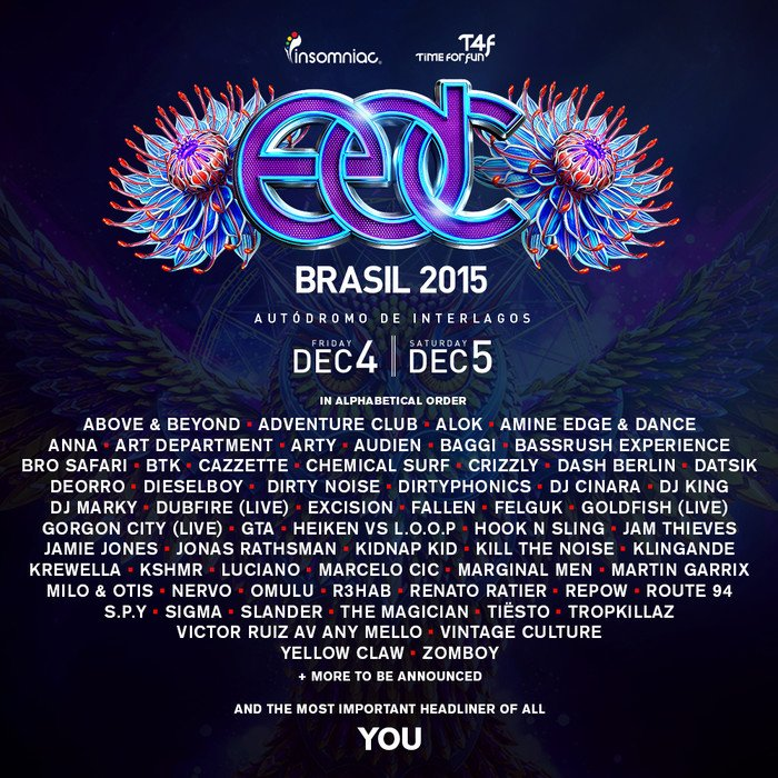 Insomniac Reveals Stacked EDC Brasil Lineup